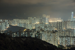 Night in Hong Kong (Carl Gabrielsson) Tags: mist fog night clouds lights evening sam north peak hong kong chi wan overlooking yi tsing heung tsuen