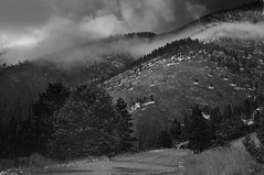 Waldo Canyon (Lauren Isabel) Tags: blackandwhite mountains monochrome clouds landscape nikon colorado abc waldocanyon d300s 1685mm