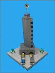 Oh Bleak Tower (Karf Oohlu) Tags: building lego prison vignette moc microscale