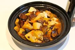 Aubergine, Potato and Tofu Casserole (karenlakeman) Tags: recipe vegan healthy eggplant tofu casserole wholefoods health vegetarian aubergine recipes wholesome healthyfood lowfat cheapfood wholefood melazane