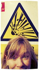 BANG! ( EkkyP ) Tags: sign danger self warning triangle april 365 bang selfie project365 365days 2013 oyt