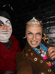 RUBY DEE and SAL-E with Award on 2-25-2013 (SAL-E) Tags: chicago club fur drag costume scary paint artist sale painted clown sunday makeup queen host freak jedi nightlife creature clubkid clublife smartbar clubcreature freakdrag paintedclown 20130225queen