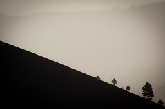 overlooked (thermophle) Tags: trees arizona fog volcano angle sunsetcraternationalmonument