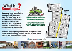 Bountagu - A5 Leaflet (March 2013) page1 (Big Local) Tags: poster flyer event posters leaflet publicity flyers leaflets biglocal localtrust bountagu bouncesmontagu
