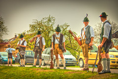 The Shooters (svenpetersen1965) Tags: costumes bavaria gun traditional guns shooting tradition hdr shooters firecracker bavarian 1px gtting
