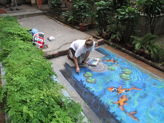 'Kolkata Garden Pool' (Tracy Lee Stum) Tags: india pool 3d student workshop kolkata chalkart streetpainter anamorphic streetpainting tracyleestum chalkdrawings chalkartist 3dstreetart sidewalkchalkart anamorphicart 3dstreetpainting 3dchalkdrawings 3dchalkart 3dillusions 3dchalkartist usconsulatekolkata