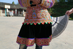 Handmade work - embroidery (Rita Willaert) Tags: china children handmade embroidery kinderen patchwork guizhou miao minority handwork minorities etnic traditionalclothing zuidwest minderheden bijie rodedraadmiao