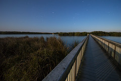 Path to the Pacific (JC_Carvalho) Tags: ocean longexposure moon lake reflection beach water night stars landscape photo nikon nightscape peaceful full boardwalk carvalho d3200 carvalhoportraits