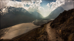 The Road to Home (a.Kry) Tags: nepal sunset sun mountain nature landscape scenery countries  langtang      centralregion  tsergori akryphotoart cherkori specifictothiscatalog  flickrkeywords subject localtags kyangjingomba