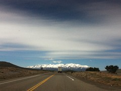 On the road again ... (shorby68) Tags: road cloud highway driving ipod roadtrip retro boring idaho carwindow blackcloud