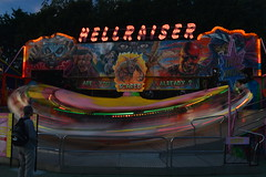 Hellraiser at Night (CoasterMadMatt) Tags: park city uk greatbritain autumn england motion blur southwest west english up night speed dark fun photography lights amusement october slow ride time photos unitedkingdom britain south united great illuminations illumination kingdom somerset fair illuminated motionblur photographs shutter gb theme amusementpark british leisure rides lit funfair themepark leisurepark attraction attractions slowshutterspeed hellraiser litup in inthedark funcity nighttimephotography 2013 cadells breanleisurepark coastermadmatt