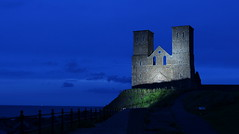 Reculver Towers (music_man800) Tags: reculver towers kent coast coastline north sea thames estuary water landscape hill cliff clifftop herne bay margate day trip road roadtrip view ghost haunted cloud blue hour evening dusk afternoon night light illumination artificial natural shadow moody atmospheric abbey ruins canon 700d photography united kingdom uk gimp2 edit creative gimp outside outdoors pub walk outdoor tripod long exposure