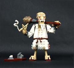 Lu-Tze (Pate-keetongu) Tags: lego moc discworld sirterrypratchett monk historymonk kungfu