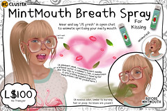 -RC- MintMouth Breath Spray for Kissing (-RC- Cluster) Tags: kiss breath kissing smooch mint mouth mints listerine mouthwash wash teeth toothbrush toothpaste reddcolumbia rc rccluster secondlife sl vanity