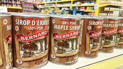Syrop d'rable (bernard poirier) Tags: picerie grocery store cans rable syrop maple syrup