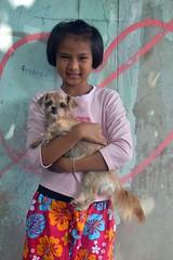 pretty girl with her dog (the foreign photographer - ) Tags: jul242016nikon pretty girl dog khlong bang bua portraits bangkhen bangkok thailand nikon d3200