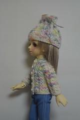sweater and hat for YOSD (worlddoll86) Tags: worlddoll koreanshop sweater knitting clothes hat crochet jumper outfit yosd bjd tiny ann volks super dollfie