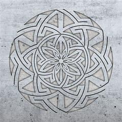 circular key pattern (chrisinplymouth) Tags: pattern design abstract circular art artwork digitalart cw69x radial photoshop cw69sym circle symmetry concrete geometric symmetrical geometry hexagon hexagonal basrelief round c18 emd