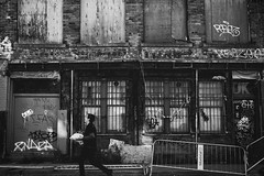 What Matters (Soir d'hiver) Tags: montreal fujifilm street urban walk abandoned grunge old people graffiti black white xt10