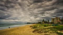 Fishing (BAN - photography) Tags: surf sand beach beachfront shore headland burleigh lifeguardtower dunevegetation d810 longexposure seaocean waves