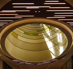Big Magnifier / Groot vergrootglas (jo.misere) Tags: skylight koepel centre shopping mall kleuren colors