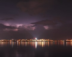 A Distant Rumble (Kirby Wright) Tags: lightning clouds purple cumulonimbus towers skyline downtown madison wi lake monona long exposure storm storms mcs multi cell system stars night sky shot reflection capitol isthmus madison365 haze city lights lines john nolen drive distance thunder thunderstorm updraft nikon d700 50mm f18 18 50 mm f background