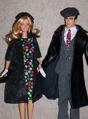 Steppin' Out with My Baby (larry_boy17) Tags: barbie ken doll dolls 16scale 16 scale toy toys inside indoor indoors people suit coat coats easterparade easter parade vintage reproduction repro hat cap blonde citrus obsession citrusobsession sheath dress gray grey leather