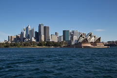 Sydney CBD (peterreading) Tags: ferry trip water harbour sea ocean river waterway travel tourist tourism sydney australia aus aussie oz ozzie cbd office operahouse famous landmark nsw newsouthwales sunny sun day afternoon skyscraper offices business district central