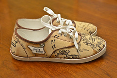 Harry Potter Shoes (3) (Chris Gent) Tags: harrypotter maraudersmap hogwartsschoolofwitchcraftandwizardry shoes magical document remuslupin moony peterpettigrew wormtail siriusblack padfoot jamespotter prongs