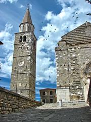 Buje - Big Church 2 (Gorky1985) Tags: goran h2 sony summer buje buie istrien istria cosic croatia clouds city church colors kroatien town stone old