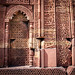 Islamic decorations on sandstone walls at the Qutb Minar Complex - Delhi, India