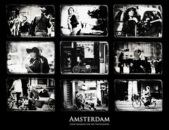Amsterdammers and Strangers. Amsterdam by Jenny Rainbow (Jenny Rainbow (jenny-rainbow.pixels.com)) Tags: jennyrainbowfineartphotography amsterdam thenetherlands holland blackadwhitephotography collage fineart fieartphotography people woman man streetphotography amsterdampeople human citylife amsterdamlife amsterdamstyleoflife city amsterdamstreets amsterdamarchitecture dutchpeople dutchstyleoflife tourists bikes bicycle paintings art artforhome travel travelphotography black white street lifestyle dutchstyle faces portraits