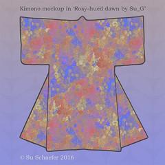 'Rosy-hued dawn' in a Kimono mockup (Su_G) Tags: rosyhueddawn kimono kimonomockup square mockup rose impasto gilded coral dawn homer homersodyssey rosyfingereddawn sug 2016