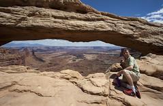 Mesa Arch view (democritus21) Tags: buckcanyon canyonlandsnationalpark mesaarch rockformations utah geology sandstone canyonlands ut usa