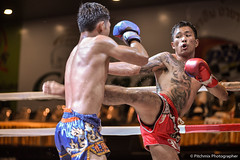 Medium Kick of MuayThai (pitchmix) Tags: people boxing fight thailand chiangmai muaythai