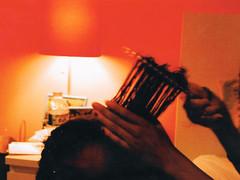 Tender Headed (Jordan Thompkins) Tags: black culture hair care haircare curls kinks coils comb bedroom tumblr film 35mm 35mmfilm filmphotography fujifilm