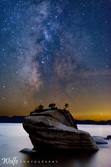Bonsai Merge (Aaron_Smith_Wolfe_Photography) Tags: bonsairock laketahoe merge 1635 d800 milkyway galaxy nevada sierra mountains