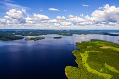 Lake Kianta (ArtDvU) Tags: lake kianta kiantajrvi finland kainuu sotkamo summer day lakescape lakeshore shore clouds land landscape dji drone sky