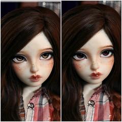 Light or dark brown eyes? (nekomuchuu63) Tags: minifee nanuri 14 head bjd doll fairyland event