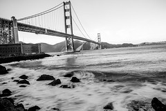 Waiting for Our Time (Thomas Hawk) Tags: california goldengatebridge sanfrancisco usa unitedstates unitedstatesofamerica bridge bw fav10 fav25 fav50 fav100