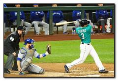 Strike! (seagr112) Tags: seattle seattlemariners washington torontobluejays safecofield baseball baseballgame umpire catcher bat swing mikezunino