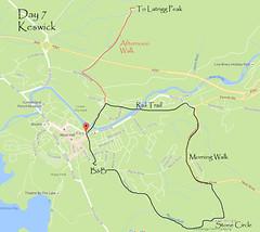 keswick map (Simon -n- Kathy) Tags: keswick england lakedistrict lakelands hike rain walk castlerigg