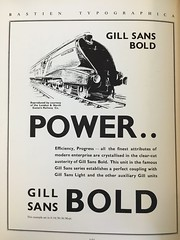 Gill Sans Bold - Bastien Typographica c1936 (mikeyashworth) Tags: typeface typography gill sans gillsansbold bastientypographica c1936 mikeashworthcollection lner