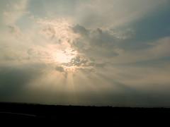 Gray Skies (Khaled M. K. HEGAZY) Tags: nikon coolpix p520 kingdomofsaudiarabia ksa nature outdoor closeup blue orange black sun sunrise sky cloud