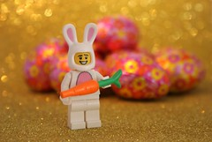 Today is Easter Monday (Judy **) Tags: bunny glitter easter lego konijn chocolate carrot eggs wortel pasen chocolade paashaas eieren 2013 100pictures 30daysinapril