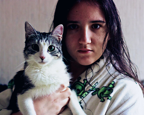 Self-Portraits with Cat