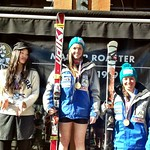 Panorama Spring Series 2013 Top-3 U18 GS Girls - Stephanie Gartner 1st, Charley Field 3rd PHOTO CREDIT: Gregor Druzina