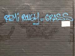 Remi Rough = Grass (HowAboutNo!) Tags: street streetart brick london art grass graffiti east lane shoreditch rough remi