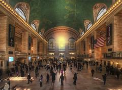 New York Grand Central Station in Golden Light