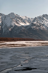 040413 - Hanging Glacial Valley above Knik River (Nathan A) Tags: morning mountains alaska river landscape outdoors spring glenn palmer glacier valley peaks range knik chugach floodplain oldglenn